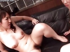Lewd tgirls fuck with dildo and suck