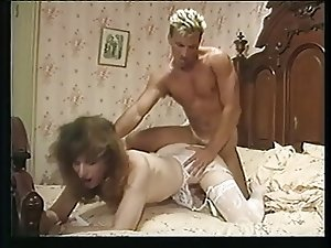 Shemale fucked by blonde stud