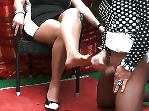 TS foot fetish tube