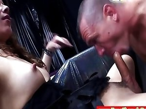 Euro tranny shemale getting dicksucked