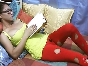 Ladyboy Sapphire Young in red pants