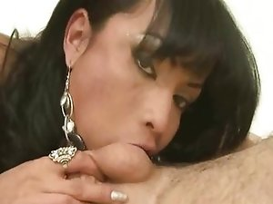 Tasty tranny babe sucks cock and gets fucked