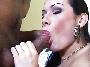 Very sexy shemale blowjob